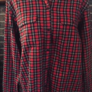 NWT Women's Chaps Red Plaid Shirt size XL
